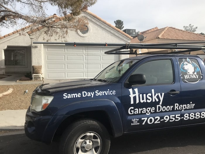 Husky Garage Door Repairs Service Van