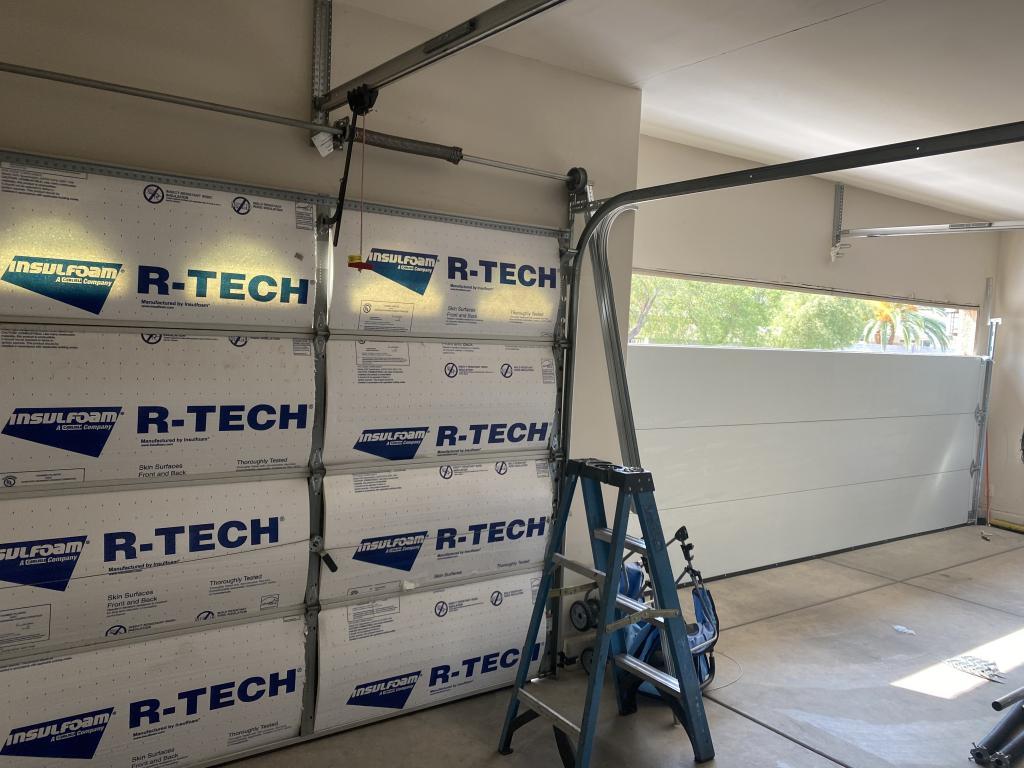 Insulated garage door Residential Garage door replacement
